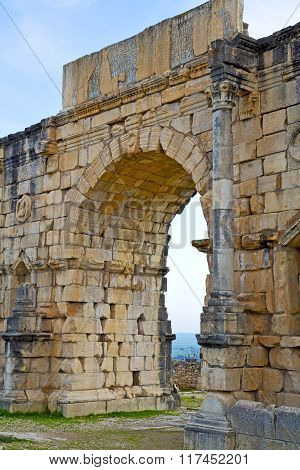 Volubilis In Morocco Africa The Old  And Site
