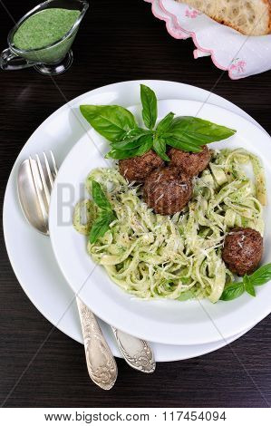 Meatballs With Pasta Sauce Avocado