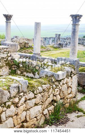 Volubilis In Morocco Africa The Old Roman Deteriorated Monument And Site