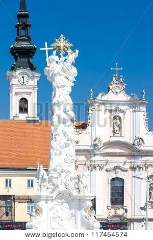 Rathausplatz, Sankt Polten, Lower Austria, Austria