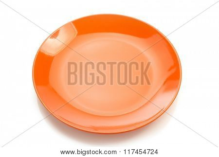 ceramic plate isolated on white background