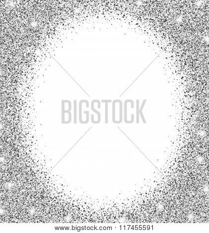silver glitter background.