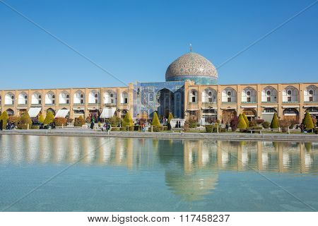 Sheikh Lotfollah Mosque at Naqhsh-e Jahan Square in Isfahan, Iran