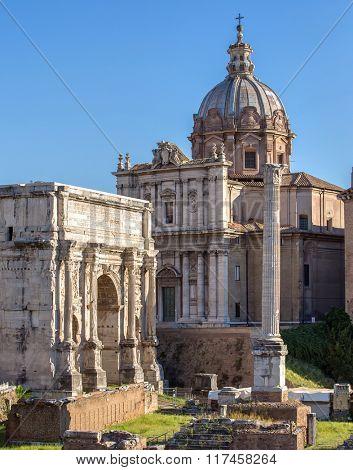Forum Romanum in Italy, Rome.