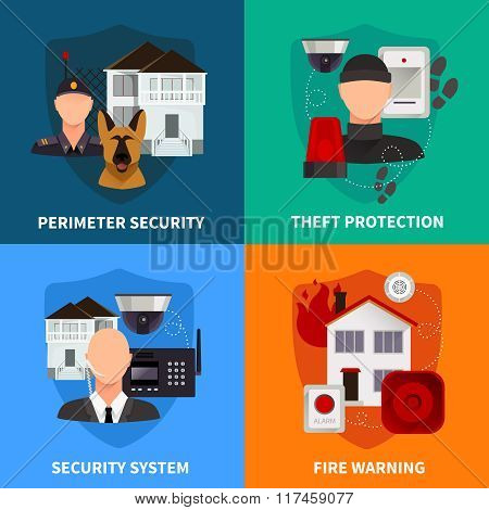 Home Security 2x2 Design Concept Set
