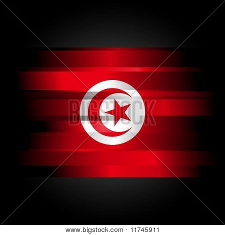 Abstract Flag Of Tunisia On White Background