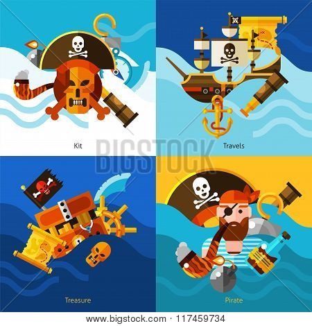 Pirates 2x2 Design Concept Set