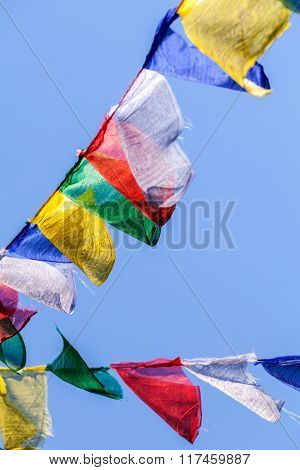 Buddhist Prayer Flags The Holy Traditional Flag In Bhutan