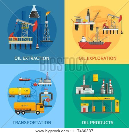 Oil Petrol Industry 2x2 Images