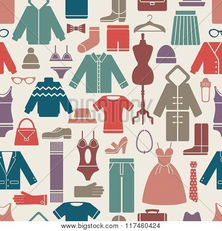 clothes set seamless pattern