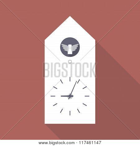 Cuckoo Clock Flat Icon