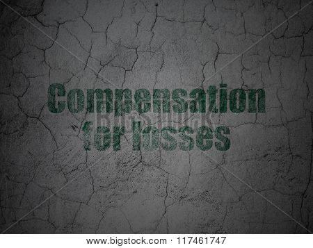 Banking concept: Compensation For losses on grunge wall background