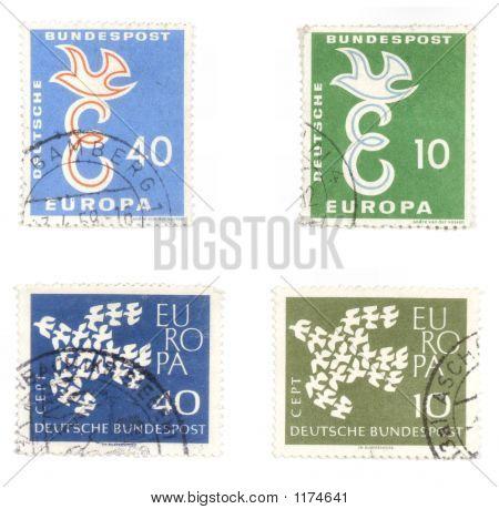 Frieden post Briefmarken aus Deutschland