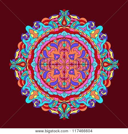 Colour Mandala Background Vintage Decorative Elements Hand Drawn Background Eps 10