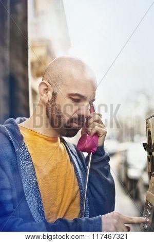 Man doing a phone call
