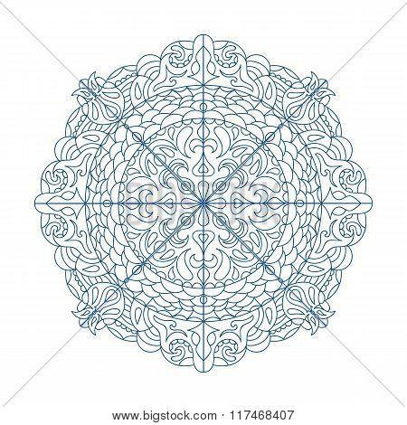 Mandala Ethnic Decorative Elements Hand Drawn Background Eps10