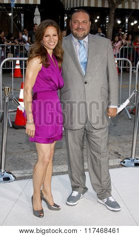 Susan Downey and Joel Silver at the Los Angeles Premiere of