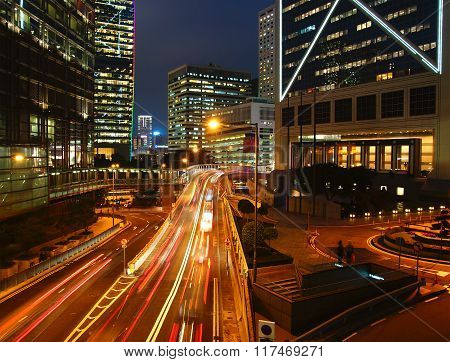 Traffic at night.