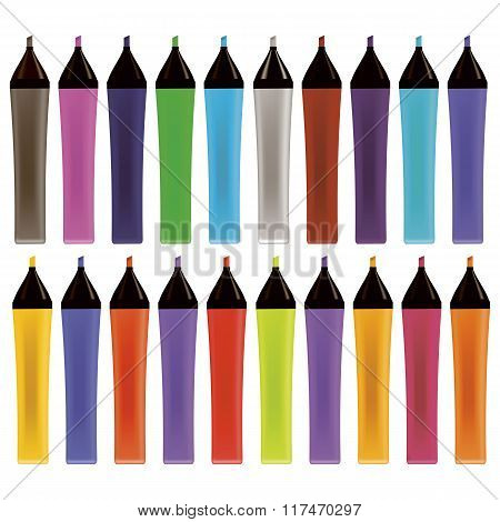 Set od Colorful Markers