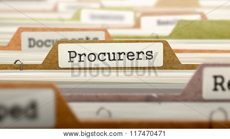 Procurers Concept on Folder Register.
