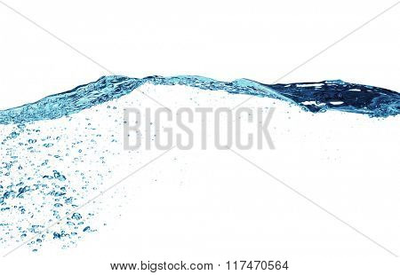Water splash isolated on the white