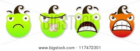Angry And Sad Smileys