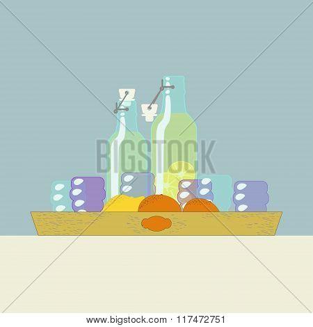 Fresh Homemade Lemonade On A Tray