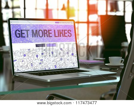 Get More Likes - Concept on Laptop Screen.