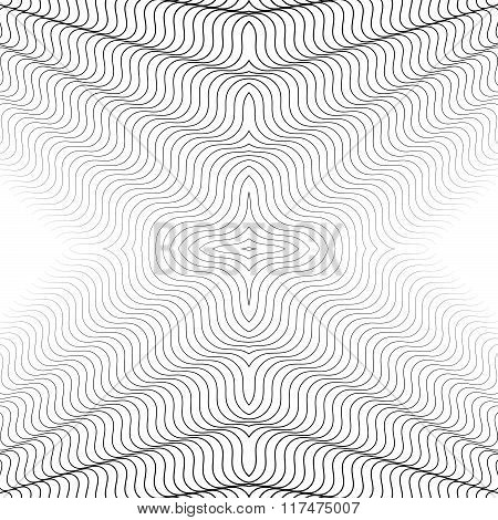Abstract Grid, Mesh Geometric Pattern With Thin Intersecting Lines