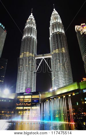 Petronas Towers At Night.