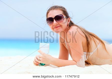 Beautiful Woman On Vacation