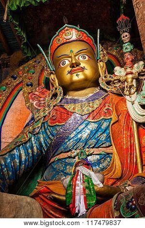 Statue of Guru Padmasambhava. Hemis gompa, Ladakh, India
