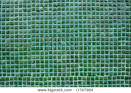 Seamless Green Square Tiles Texture