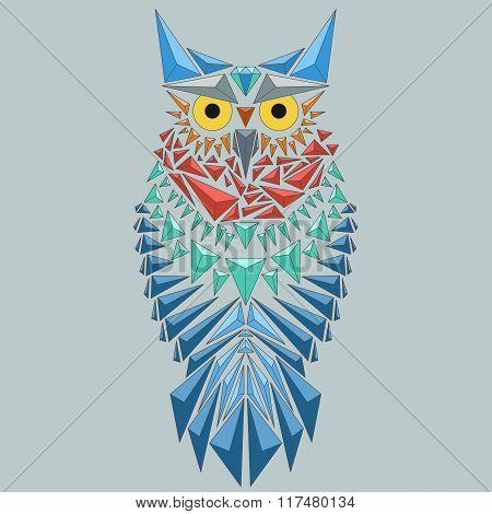 Vector Geometric Owl