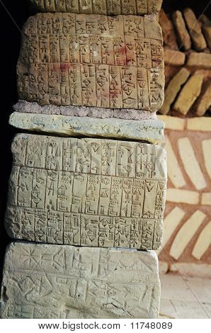 Ancient Sumerian Writing
