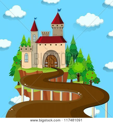 Road to the castle illustration