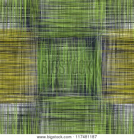 Grid Checkered Grunge Striped Seamless Pattern In Green,yellow,black,white Colors