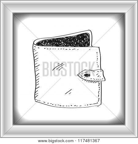 Simple Doodle Of A Wallet