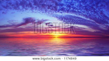 00069 Brighton Sunset Flooded 2