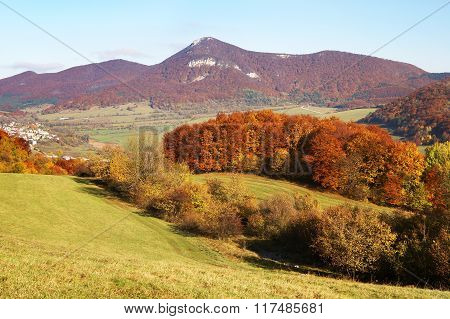 Autumnal View Of Strazov Mount In Strazovske Vrchy