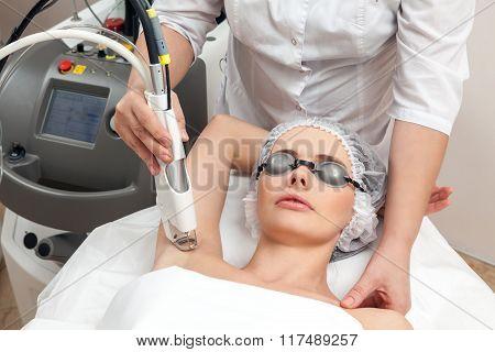 Woman in healthy beauty spa salon