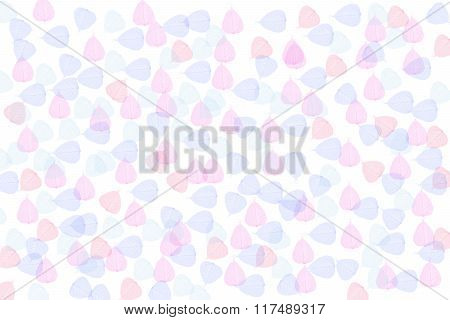 The Small Pink And Blue Leaf As Background