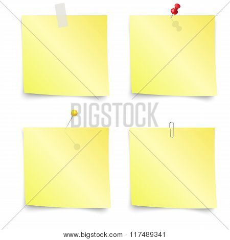 Sticky Notes - Set of yellow sticky notes