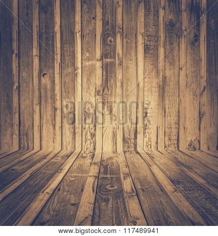 old room, wooden wall, retro film filtered, instagram style