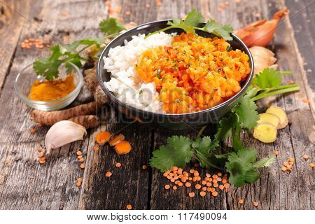 red lentils and rice