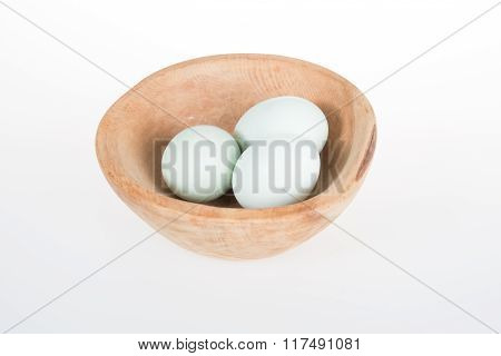 Eggs Green And White Isolated On A White Background