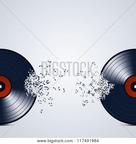 Abstract Vinyl Music Background