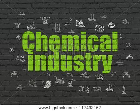 Manufacuring concept: Chemical Industry on wall background
