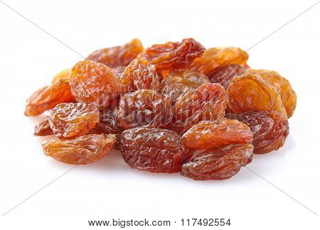 Heap raisins in closeup