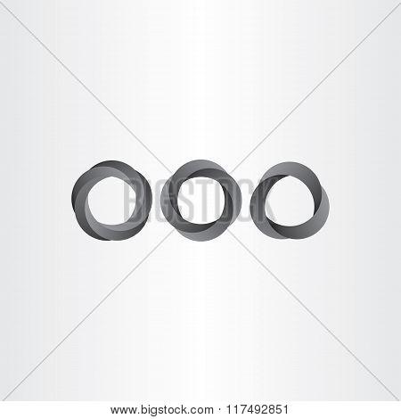 Impossible Looped Black Circle Vector Set